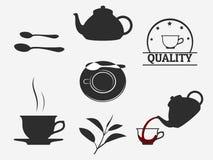Ícones do chá Imagens de Stock
