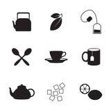 Ícones do chá Imagens de Stock Royalty Free