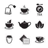 Ícones do chá Fotos de Stock