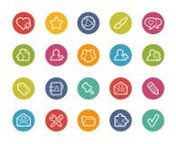 Ícones do chat room -- Série de Printemps Fotografia de Stock Royalty Free