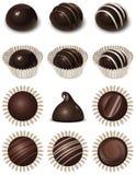 Ícones do chocolate ajustados Foto de Stock Royalty Free