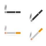 Ícones do cigarro do vetor Foto de Stock Royalty Free