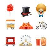 Ícones do circo ajustados Foto de Stock Royalty Free