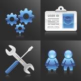 Ícones do cliente e dos Config do vetor Fotografia de Stock