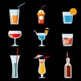 Ícones do cocktail do vetor Imagem de Stock Royalty Free