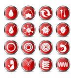 Ícones do colchão Imagem de Stock
