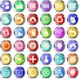 Ícones do colchão e do descanso Imagem de Stock Royalty Free