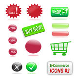 Ícones do comércio electrónico, parte 2 Fotos de Stock