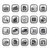 Ícones do comércio eletrônico e da loja Fotos de Stock
