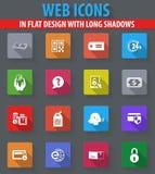 Ícones do comércio eletrônico ajustados Fotografia de Stock