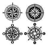 Ícones do compasso Imagem de Stock