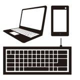 Ícones do computador Imagem de Stock