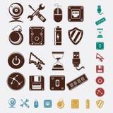Ícones do computador ajustados ilustração do vetor