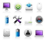 Ícones do computador de Titaniun Foto de Stock