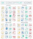Ícones do conceito de Infographics de dados da nuvem, 3d impressão, indústria do jogo, ícones da campanha publicitária nos meios  ilustração do vetor