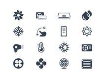 Ícones do condicionamento de ar Fotografia de Stock