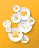 Ícones do contato Imagens de Stock
