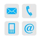 Ícones do contato da Web. Imagem de Stock