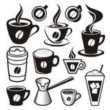 Ícones do copo de café Fotos de Stock Royalty Free