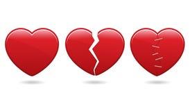 Ícones do coração Imagens de Stock