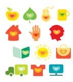 Ícones do coração Imagem de Stock