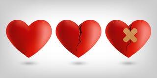 Ícones do coração Fotos de Stock Royalty Free