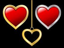 Ícones do coração ilustração royalty free