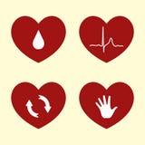 Ícones do coração Foto de Stock