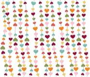Ícones do coração, dia do Valentim, cartão, papel de parede Foto de Stock Royalty Free