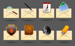 Ícones do correio Imagens de Stock