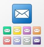 Ícones do correio ajustados Fotos de Stock