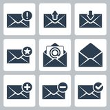 Ícones do correio do vetor ajustados Imagens de Stock Royalty Free