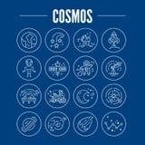 Ícones do cosmos ilustração royalty free