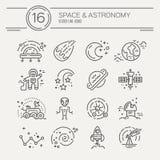 Ícones do cosmos ilustração stock