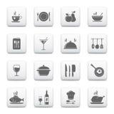 Ícones do cozimento & da cozinha Fotografia de Stock