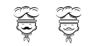 Ícones do cozinheiro do cozinheiro chefe Foto de Stock