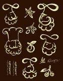 Ícones do cozinheiro chefe ajustados Fotografia de Stock Royalty Free