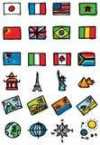 ícones do curso Imagem de Stock Royalty Free