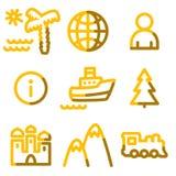 Ícones do curso ilustração stock