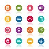 Ícones do curso Imagens de Stock