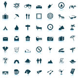 Ícones do curso ajustados Imagem de Stock