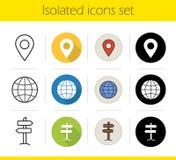 Ícones do curso ajustados Fotos de Stock Royalty Free