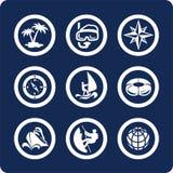 Ícones do curso e das férias (ajuste 13, parte 2) Imagens de Stock Royalty Free