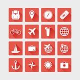 Ícones do curso Ilustração lisa do vetor Foto de Stock Royalty Free