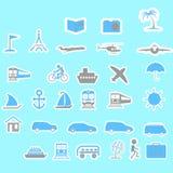 Ícones do curso para o projeto Fotos de Stock Royalty Free