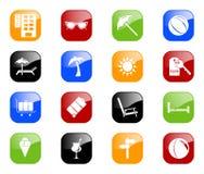 Ícones do curso - série da cor Fotos de Stock