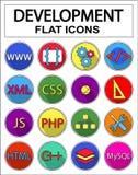 Ícones do desenvolvimento da Web ajustados Foto de Stock Royalty Free