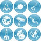 Ícones do desenvolvimento do espaço Fotografia de Stock Royalty Free
