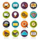 Ícones do design web ajustados Fotos de Stock Royalty Free