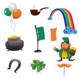 Ícones do dia de St Patrick Fotografia de Stock Royalty Free